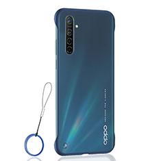 Coque Antichocs Rigide Transparente Crystal Etui Housse H01 pour Realme X2 Bleu