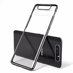 Coque Antichocs Rigide Transparente Crystal Etui Housse H01 pour Samsung Galaxy A80 Noir
