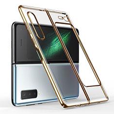 Coque Antichocs Rigide Transparente Crystal Etui Housse H01 pour Samsung Galaxy Fold Or