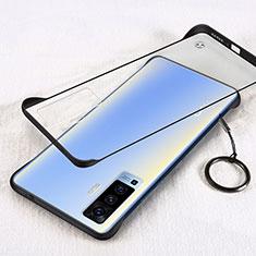 Coque Antichocs Rigide Transparente Crystal Etui Housse H01 pour Vivo X50 5G Noir