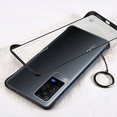 Coque Antichocs Rigide Transparente Crystal Etui Housse H01 pour Vivo X60 Pro 5G Noir