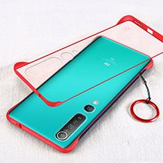 Coque Antichocs Rigide Transparente Crystal Etui Housse H01 pour Xiaomi Mi 10 Rouge