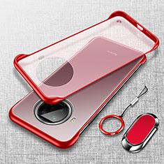 Coque Antichocs Rigide Transparente Crystal Etui Housse H01 pour Xiaomi Mi 10i 5G Rouge