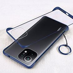 Coque Antichocs Rigide Transparente Crystal Etui Housse H01 pour Xiaomi Mi 11 5G Bleu