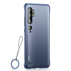 Coque Antichocs Rigide Transparente Crystal Etui Housse H01 pour Xiaomi Mi Note 10 Bleu