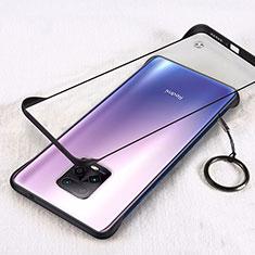 Coque Antichocs Rigide Transparente Crystal Etui Housse H01 pour Xiaomi Redmi 10X Pro 5G Noir
