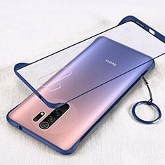 Coque Antichocs Rigide Transparente Crystal Etui Housse H01 pour Xiaomi Redmi 9 Prime India Bleu