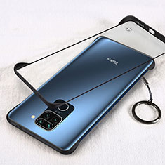 Coque Antichocs Rigide Transparente Crystal Etui Housse H01 pour Xiaomi Redmi Note 9 Noir