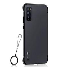 Coque Antichocs Rigide Transparente Crystal Etui Housse H02 pour Huawei Enjoy 20 Pro 5G Noir