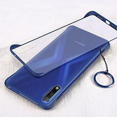Coque Antichocs Rigide Transparente Crystal Etui Housse H02 pour Huawei Honor 9X Bleu