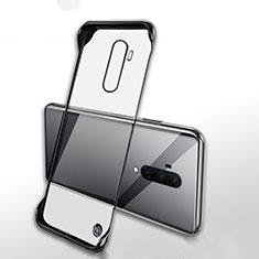 Coque Antichocs Rigide Transparente Crystal Etui Housse H02 pour OnePlus 7T Pro 5G Noir