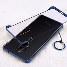 Coque Antichocs Rigide Transparente Crystal Etui Housse H02 pour OnePlus 8 Pro Bleu