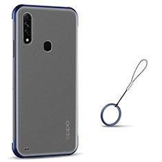 Coque Antichocs Rigide Transparente Crystal Etui Housse H02 pour Oppo A8 Bleu