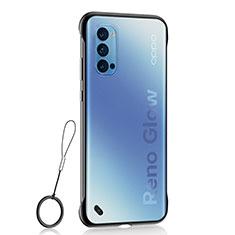 Coque Antichocs Rigide Transparente Crystal Etui Housse H02 pour Oppo Reno4 Pro 5G Noir