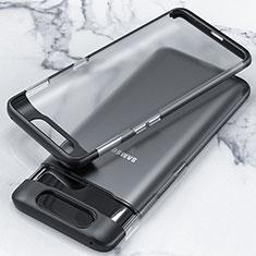 Coque Antichocs Rigide Transparente Crystal Etui Housse H02 pour Samsung Galaxy A90 4G Noir