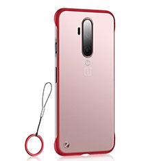 Coque Antichocs Rigide Transparente Crystal Etui Housse H03 pour OnePlus 7T Pro Rouge