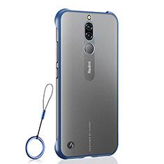 Coque Antichocs Rigide Transparente Crystal Etui Housse H03 pour Xiaomi Redmi 8 Bleu