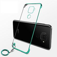Coque Antichocs Rigide Transparente Crystal Etui Housse H04 pour Huawei Mate 30 Lite Vert