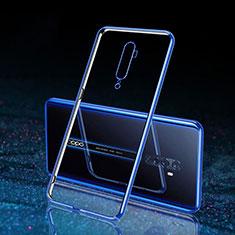 Coque Antichocs Rigide Transparente Crystal Etui Housse H04 pour Oppo Reno2 Bleu