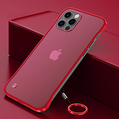 Coque Antichocs Rigide Transparente Crystal Etui Housse N01 pour Apple iPhone 12 Pro Rouge