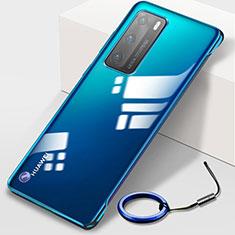 Coque Antichocs Rigide Transparente Crystal Etui Housse N02 pour Huawei P40 Bleu