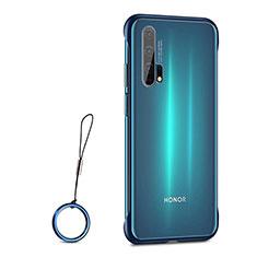 Coque Antichocs Rigide Transparente Crystal Etui Housse S01 pour Huawei Honor 20 Pro Bleu