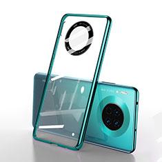 Coque Antichocs Rigide Transparente Crystal Etui Housse S01 pour Huawei Mate 30 Pro Vert