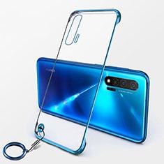 Coque Antichocs Rigide Transparente Crystal Etui Housse S01 pour Huawei Nova 6 5G Bleu