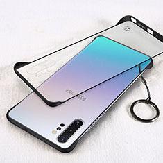 Coque Antichocs Rigide Transparente Crystal Etui Housse S01 pour Samsung Galaxy Note 10 Plus 5G Noir
