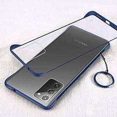 Coque Antichocs Rigide Transparente Crystal Etui Housse S01 pour Samsung Galaxy Note 20 5G Bleu