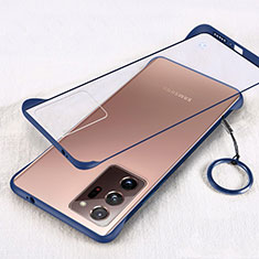 Coque Antichocs Rigide Transparente Crystal Etui Housse S01 pour Samsung Galaxy Note 20 Ultra 5G Bleu