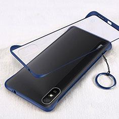 Coque Antichocs Rigide Transparente Crystal Etui Housse S01 pour Xiaomi Redmi 9i Bleu