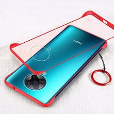 Coque Antichocs Rigide Transparente Crystal Etui Housse S01 pour Xiaomi Redmi K30 Pro 5G Rouge