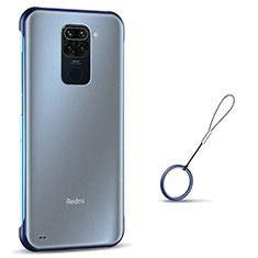 Coque Antichocs Rigide Transparente Crystal Etui Housse S01 pour Xiaomi Redmi Note 9 Bleu