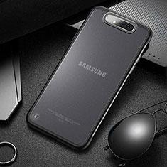 Coque Antichocs Rigide Transparente Crystal Etui Housse S02 pour Samsung Galaxy A80 Noir