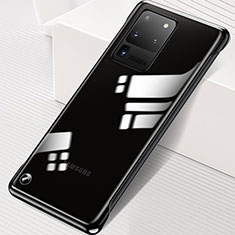 Coque Antichocs Rigide Transparente Crystal Etui Housse S02 pour Samsung Galaxy S20 Ultra Noir