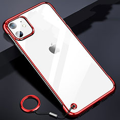 Coque Antichocs Rigide Transparente Crystal Etui Housse S03 pour Apple iPhone 11 Rouge