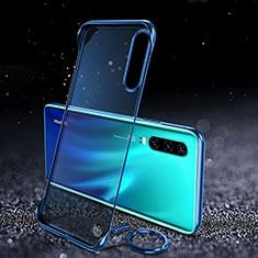 Coque Antichocs Rigide Transparente Crystal Etui Housse S03 pour Huawei P30 Bleu