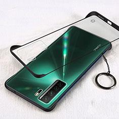 Coque Antichocs Rigide Transparente Crystal Etui Housse S03 pour Huawei P40 Lite 5G Noir