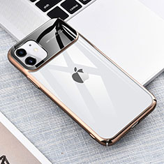 Coque Antichocs Rigide Transparente Crystal Etui Housse S04 pour Apple iPhone 11 Or