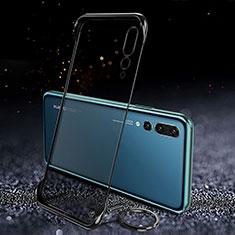 Coque Antichocs Rigide Transparente Crystal Etui Housse S04 pour Huawei P20 Pro Noir