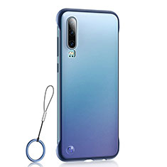 Coque Antichocs Rigide Transparente Crystal Etui Housse S04 pour Huawei P30 Bleu