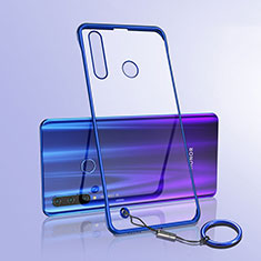 Coque Antichocs Rigide Transparente Crystal Etui Housse S05 pour Huawei Honor 20 Lite Bleu