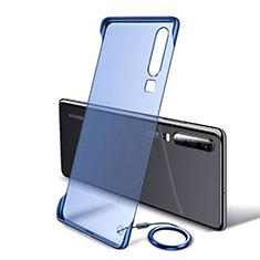 Coque Antichocs Rigide Transparente Crystal Etui Housse S05 pour Huawei P30 Bleu