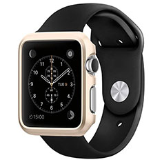 Coque Bumper Luxe Aluminum Metal C01 pour Apple iWatch 3 38mm Or
