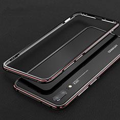 Coque Bumper Luxe Aluminum Metal Etui M01 pour Huawei P20 Rouge et Noir