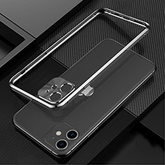 Coque Bumper Luxe Aluminum Metal Etui N01 pour Apple iPhone 12 Mini Noir