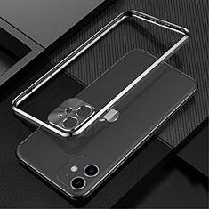 Coque Bumper Luxe Aluminum Metal Etui N01 pour Apple iPhone 12 Noir