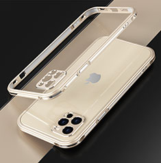 Coque Bumper Luxe Aluminum Metal Etui N01 pour Apple iPhone 12 Pro Or
