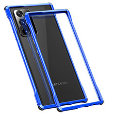 Coque Bumper Luxe Aluminum Metal Etui N01 pour Samsung Galaxy Note 20 Ultra 5G Bleu